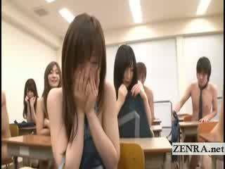 college, japanisch, striptease