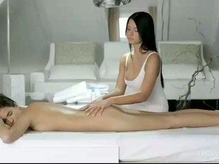 Silvie dhe addison masazh çdo pussies