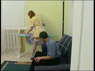 Baas gedwongen meid naar neuken hard video-