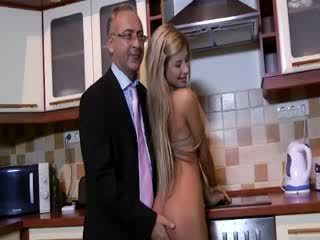 Older guy watches chick prostitute finger