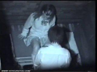 Two japonesa cachonda pareja público sexo