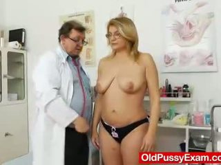 spalancato, vagina, maturo