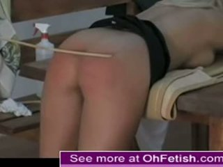 Hot airport blonde spanked