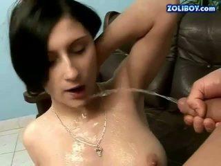 brunette, pissing, pee