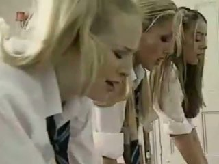 Lesbisk britisk schoolgirls og lærer