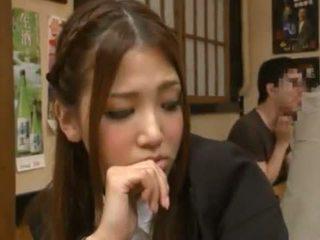 Nanako hoshizaki has sie bieber gemacht liebe aus backside im die restaurant