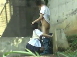 Diáklány having szex -ban a park