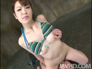 Cum Hungry Tomoka Sakurai Rides Her Lovers Face Until She