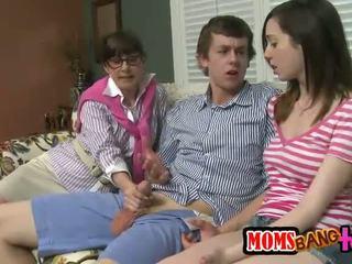 sexe de groupe plein, chaud transexuelle plein, vérifier trio