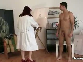 She enjoys riding his young meat
